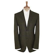 Berwin & Berwin Windowpane Check Jacket, Dark Green £250