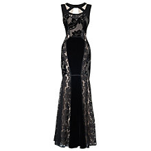 Black Lace Evening Gown; Phase Eight £350