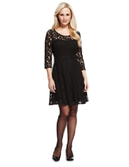 black lace skater dress from M&S £59