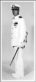 Naval Officer in Tropical Uniform