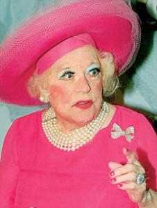 Barbara Cartland in full warpaint