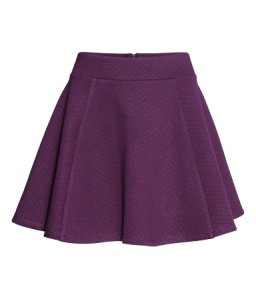 Circular Skater skirt from H&M in a quilted jaquard fabric. Can't see this one on the ice, can you?