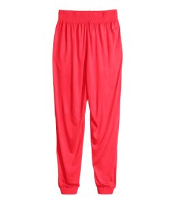 What did I tell you? Harem pants. I mean, would you go jogging in these? Even if you went jogging at all?
