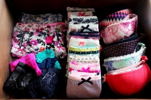Tidy underwear drawer